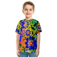 Abstract Background Backdrop Design Kids  Sport Mesh Tee by Amaryn4rt