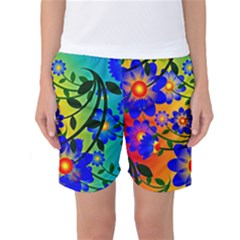 Abstract Background Backdrop Design Women s Basketball Shorts by Amaryn4rt