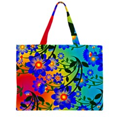 Abstract Background Backdrop Design Zipper Large Tote Bag by Amaryn4rt
