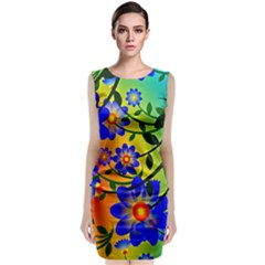 Abstract Background Backdrop Design Classic Sleeveless Midi Dress by Amaryn4rt