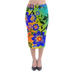 Abstract Background Backdrop Design Midi Pencil Skirt by Amaryn4rt