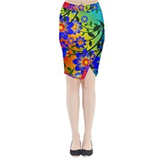 Abstract Background Backdrop Design Midi Wrap Pencil Skirt by Amaryn4rt