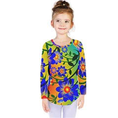 Abstract Background Backdrop Design Kids  Long Sleeve Tee by Amaryn4rt