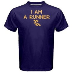 I am a runner - Men s Cotton Tee by FunnySaying