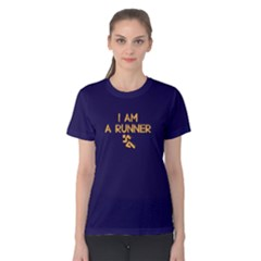 I Am A Runner   Women s Cotton Tee by FunnySaying