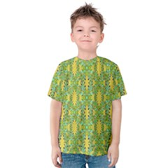 Ornate Modern Noveau Kids  Cotton Tee by dflcprintsclothing