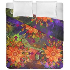 Abstract Flowers Floral Decorative Duvet Cover Double Side (california King Size) by Amaryn4rt