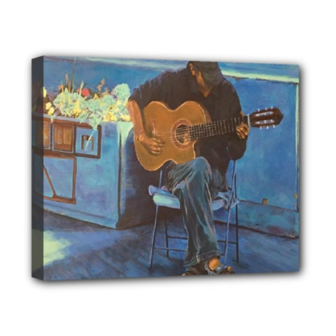 Man And His Guitar Canvas 10  X 8  by theunrulyartist