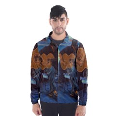 Man And His Guitar Wind Breaker (men) by theunrulyartist