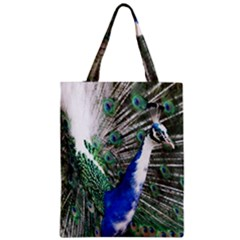 Animal Photography Peacock Bird Zipper Classic Tote Bag by Amaryn4rt