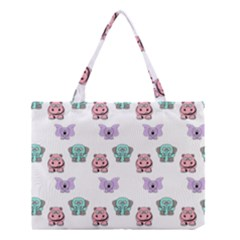 Animals Pastel Children Colorful Medium Tote Bag by Amaryn4rt