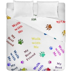 Animals Pets Dogs Paws Colorful Duvet Cover Double Side (california King Size) by Amaryn4rt