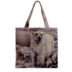 Polar Bear Grocery Tote Bag