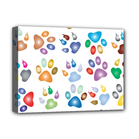 Colorful Prismatic Rainbow Animal Deluxe Canvas 16  X 12   by Amaryn4rt
