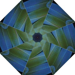Feather Parrot Colorful Metalic Golf Umbrellas by Amaryn4rt