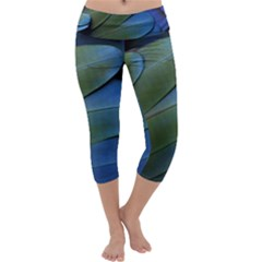 Feather Parrot Colorful Metalic Capri Yoga Leggings by Amaryn4rt