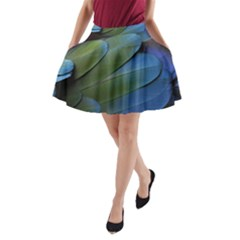 Feather Parrot Colorful Metalic A Line Pocket Skirt by Amaryn4rt