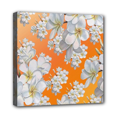 Flowers Background Backdrop Floral Mini Canvas 8  X 8  by Amaryn4rt