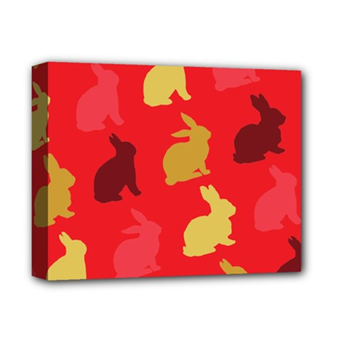 Hare Easter Pattern Animals Deluxe Canvas 14  X 11  by Amaryn4rt