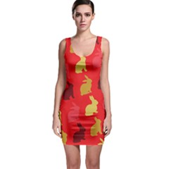 Hare Easter Pattern Animals Sleeveless Bodycon Dress by Amaryn4rt