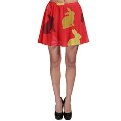 Hare Easter Pattern Animals Skater Skirt by Amaryn4rt