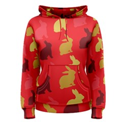 Hare Easter Pattern Animals Women s Pullover Hoodie by Amaryn4rt