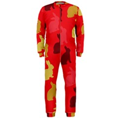 Hare Easter Pattern Animals Onepiece Jumpsuit (men)  by Amaryn4rt