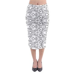 Pattern Silly Coloring Page Cool Midi Pencil Skirt by Amaryn4rt
