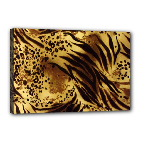 Pattern Tiger Stripes Print Animal Canvas 18  X 12  by Amaryn4rt