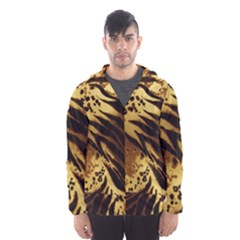 Pattern Tiger Stripes Print Animal Hooded Wind Breaker (men) by Amaryn4rt