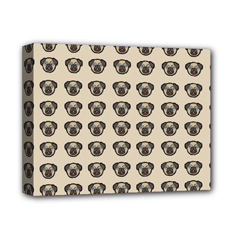 Puppy Dog Pug Pup Graphic Deluxe Canvas 14  X 11  by Amaryn4rt