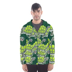 Seamless Tile Background Abstract Turtle Turtles Hooded Wind Breaker (men) by Amaryn4rt