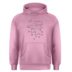 Pink All I Need Is Books And Cats  Men s Pullover Hoodie by FunnySaying