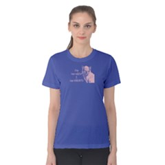 Purple Cats Have Servant  Women s Cotton Tee by FunnySaying