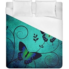 Texture Butterflies Background Duvet Cover (california King Size) by Amaryn4rt