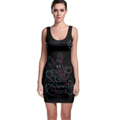 Easter Bunny Hare Rabbit Animal Sleeveless Bodycon Dress by Amaryn4rt