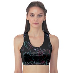 Easter Bunny Hare Rabbit Animal Sports Bra by Amaryn4rt