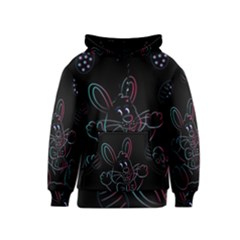Easter Bunny Hare Rabbit Animal Kids  Pullover Hoodie by Amaryn4rt