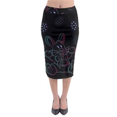 Easter Bunny Hare Rabbit Animal Midi Pencil Skirt by Amaryn4rt