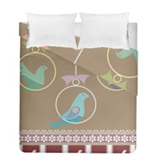 Isolated Wallpaper Bird Sweet Fowl Duvet Cover Double Side (Full/ Double Size) by Amaryn4rt