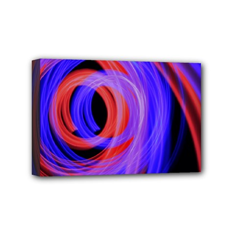 Background Blue Red Mini Canvas 6  X 4  by Amaryn4rt
