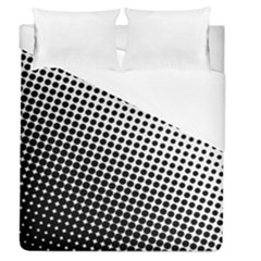 Background Wallpaper Texture Lines Dot Dots Black White Duvet Cover (queen Size) by Amaryn4rt