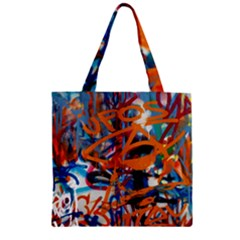 Background Graffiti Grunge Zipper Grocery Tote Bag by Amaryn4rt