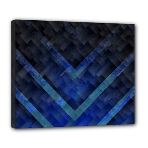 Blue Background Wallpaper Motif Design Deluxe Canvas 24  X 20