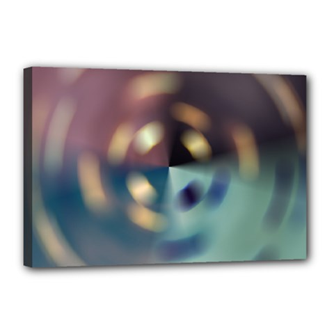 Blur Bokeh Colors Points Lights Canvas 18  X 12  by Amaryn4rt