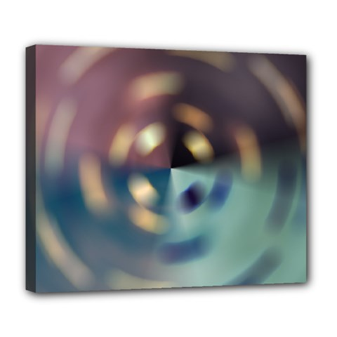Blur Bokeh Colors Points Lights Deluxe Canvas 24  X 20   by Amaryn4rt