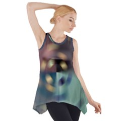 Blur Bokeh Colors Points Lights Side Drop Tank Tunic
