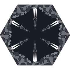 Plane Rocket Grey Mini Folding Umbrellas