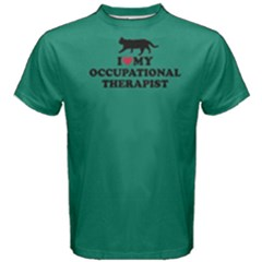 Green I Love My Occupational Therapist Men s Cotton Tee
