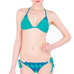 Sea Wave Blue Water Beach Bikini Set by Alisyart